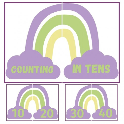 Counting in tens Rainbow (Download)