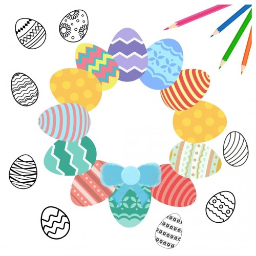 Easter Eggs - Colouring (Download)